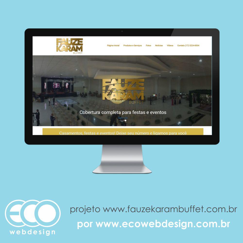 Imagem de Acesse <a href='http://www.fauzekarambuffet.com.br' target='_blank'>fauzekarambuffet.com.br </a>• Site com foco em divulgação de marca e agendamento de buffet • Fauze Karam Buffet Casamento, festas e eventos.