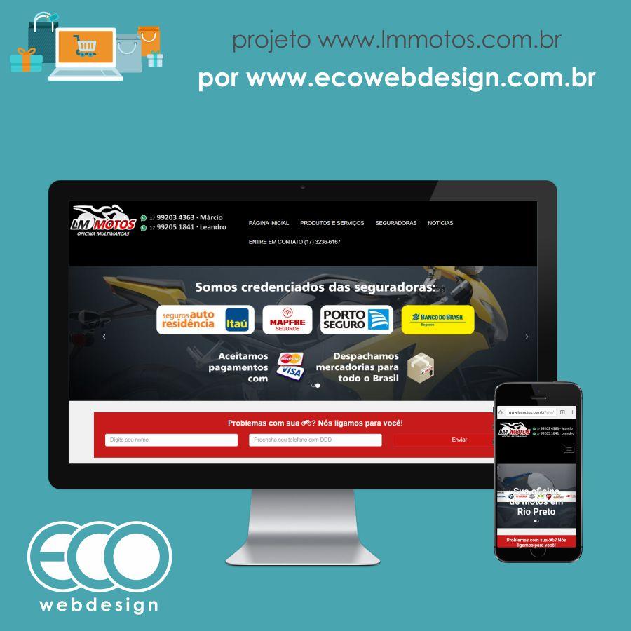Imagem de Acesse <a href='http://www.lmmotos.com.br' target='_blank'>lmmotos.com.br</a> • Site com foco em divulgação dos serviços e capitação de clientes • LM Motos Oficina Multimarcas