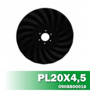 Disco de Corte PL20X4,5 Furo R80 6FF 11 AF DUPLA