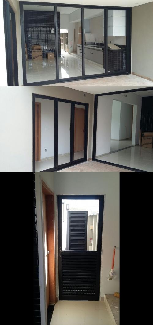 Portas de Alumínio para casa no Villagen III em Rio Preto