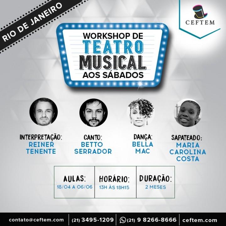 Imagem para curso de Workshop Extensivo de Teatro Musical