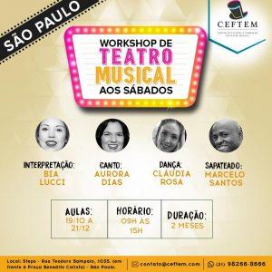 Ícone Notícia [SÃO PAULO] Inscrições abertas para o Workshop de Teatro Musical aos sábados