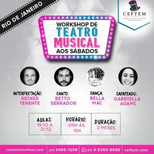 Ícone Notícia [RIO DE JANEIRO] Nova turma do Workshop de Teatro Musical aos sábados.
