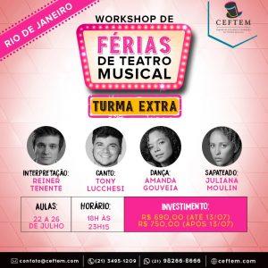 Ícone Notícia TURMA EXTRA - Workshop intensivo de férias de Teatro Musical.