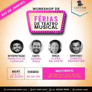 Ícone Notícia Inscrições abertas | Workshop de férias de Teatro Musical
