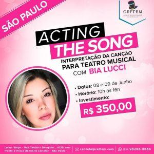 Ícone Notícia [SÃO PAULO] Curso Acting the Song - Interpretação da canção para Teatro Musical, com Bia Lucci.