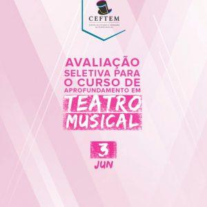 Ícone Notícia Dia 3 de junho - avaliação do curso de Aprofundamento em Teatro Musical.
