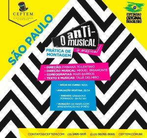Ícone Notícia [SÃO PAULO]- Vem aí a 1ª Prática de Montagem de SP - O Anti-musical, o musical.