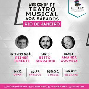 Ícone Notícia [Rio de Janeiro] - Inscrições abertas para o Workshop de Teatro Musical aos sábados.