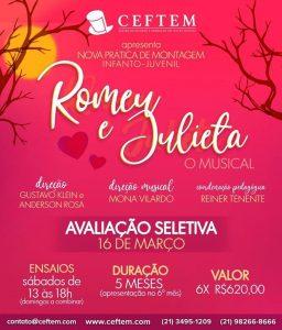 Ícone Notícia Vem aí, Romeu e Julieta - O Musical, a nova Prática de montagem Infanto-juvenil.