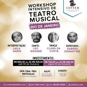 Ícone Notícia Inscrições abertas para o Workshop intensivo de Teatro Musical