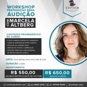 Ícone Notícia Novo curso no CEFTEM: Workshop - Preparação para audição com Marcela Altberg.