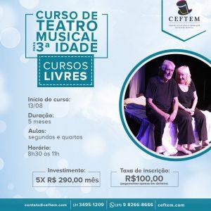 Ícone Notícia Curso de Teatro Musical para 3ª idade.
