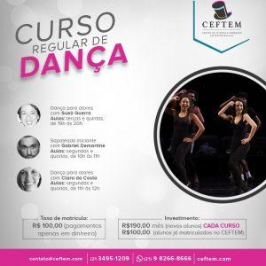 Ícone Notícia Cursos regulares de dança - matrículas abertas
