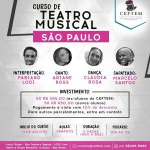 Ícone Notícia As inscrições estão abertas para nosso curso de Teatro Musical em São Paulo.