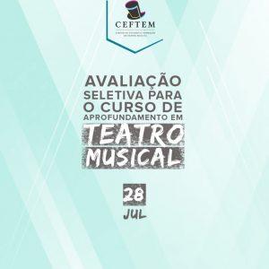 Ícone Notícia Dia 28 de Julho: nova avaliação seletiva para o curso de aprofundamento em Teatro Musical