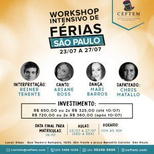 Ícone Notícia Inscrições abertas para nosso Workshop de Teatro Musical em São Paulo.