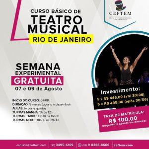 Ícone Notícia Semana experimental gratuita do curso básico de Teatro Musical.