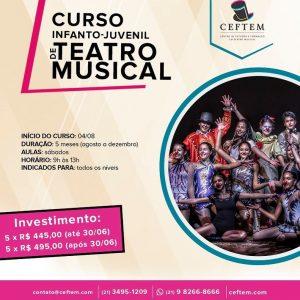 Ícone Notícia Inscrições abertas para nosso curso Infanto-Juvenil de Teatro Musical