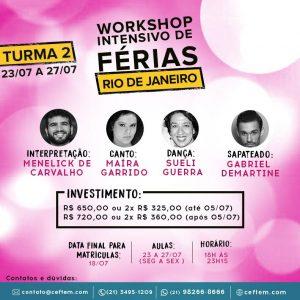 Ícone Notícia Workshop de Teatro Musical – Rio de Janeiro | Turma 2