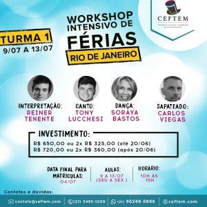 Ícone Notícia Workshop Intensivo de teatro musical - Rio de Janeiro | Turma 1