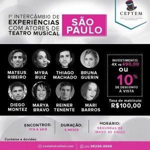 Ícone Notícia 1º Intercâmbio de experiência com atores de Teatro Musical em São Paulo.