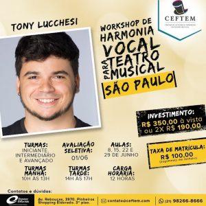 Ícone Notícia Workshop de harmonia vocal para Teatro Musical - São Paulo