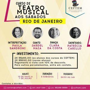 Ícone Notícia Workshop de Teatro Musical aos sábados - Rio de Janeiro