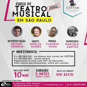 Ícone Notícia Curso de Teatro Musical em São Paulo - Inscrições abertas