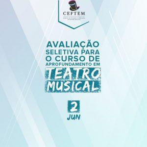 Ícone Notícia Avaliação Seletiva para o curso de aprofundamento em Teatro Musical