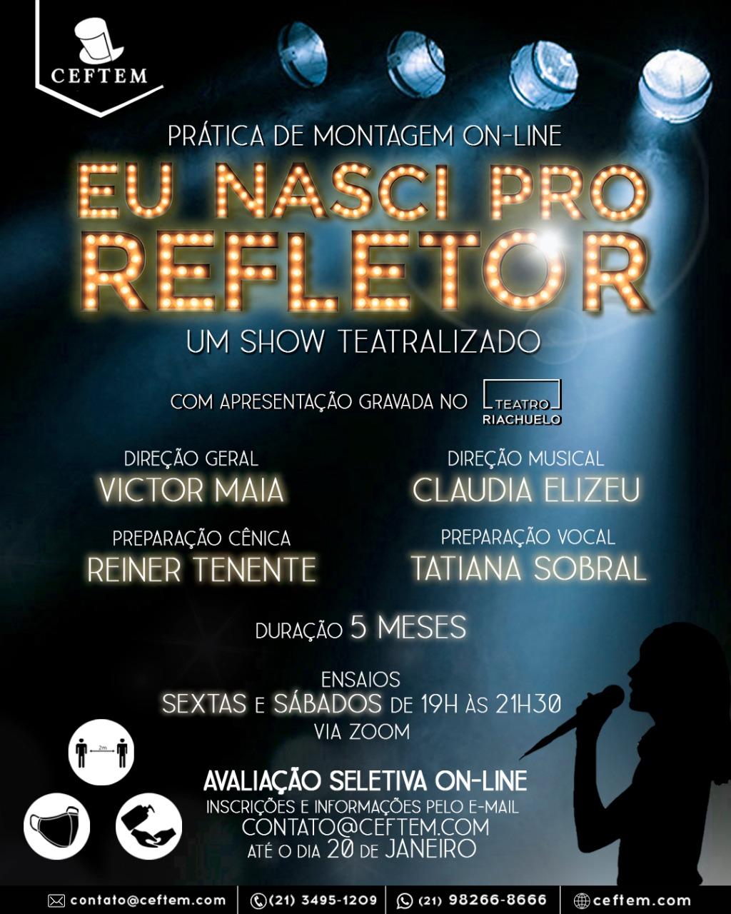 Imagem para curso de Eu Nasci Pro Refletor - Um Show Teatralizado