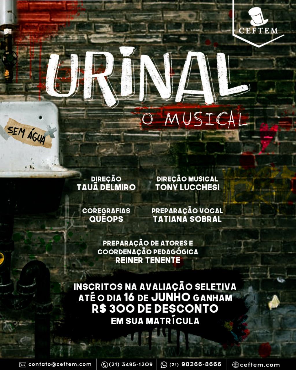 Ícone Notícia Urinal - O Musical - Inscreva-se Para a Avaliação Seletiva