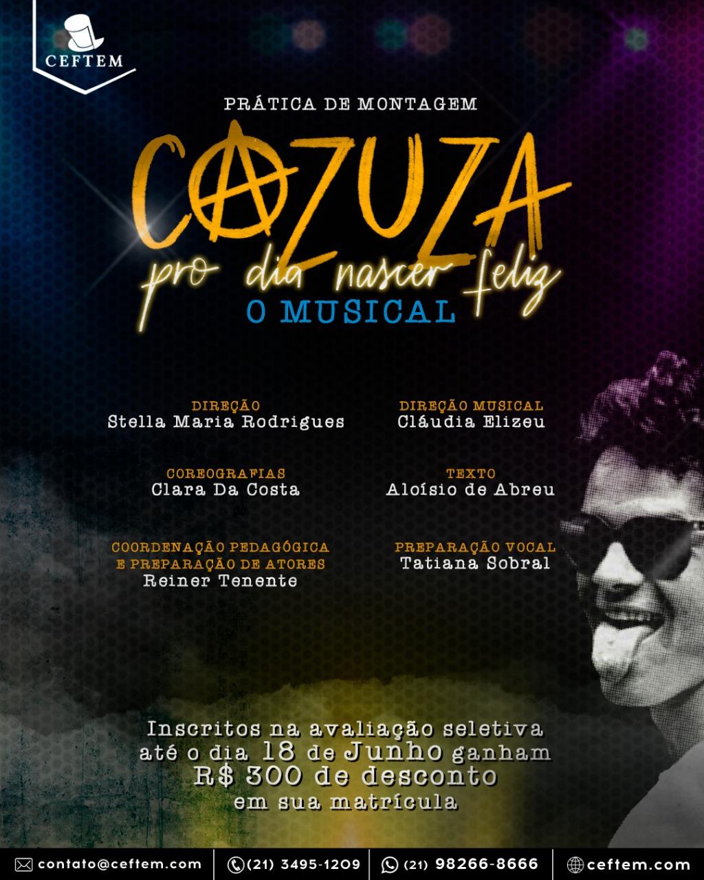 Ícone Notícia Cazuza - Pro Dia Nascer Feliz - O Musical - Inscreva-se Para a Avaliação Seletiva!