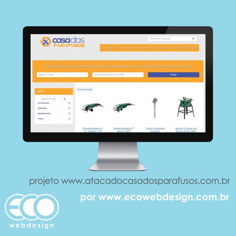 Imagem de Acesse <a href='http://www.atacadocasadosparafusos.com.br' target='_blank'>atacadocasadosparafusos.com.br</a> • Site com catálogo de produtos com foco em orçamento • Casa dos Parafusos - Comercio de ferramentas e parafusos