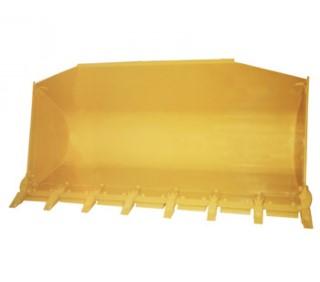 Caçamba carregadeira com até 6 metros cúbicos para máquinas pesadas