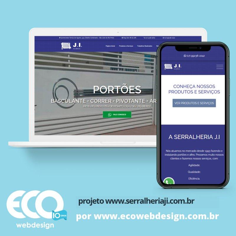 Imagem de Acesse <a href='https://www.serralheriaji.com.br' target='_blank'> https://www.serralheriaji.com.br</a> • Site institucional para empresa de montagem e instalação de portões e afins - Serralheria J.I