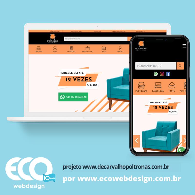Imagem de Acesse <a href='https://www.decarvalhopoltronas.com.br/'  target='_blank'>   https://www.decarvalhopoltronas.com.br  </a> • Site institucional para empresa especializada na confecção e comercialização de móveis para a sua casa. - D'carvalho poltronas