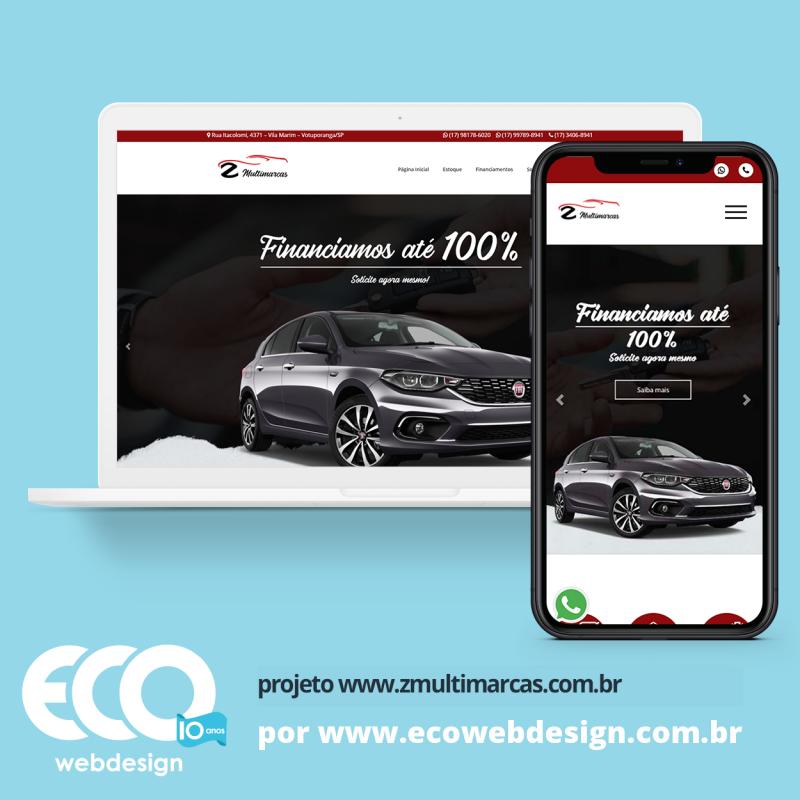 Imagem de Acesse <a href='https://www.zmultimarcas.com.br/'  target='_blank'>   https://www.zmultimarcas.com.br  </a> • Site institucional para empresa especializada em venda de veículos - Z Multimarcas