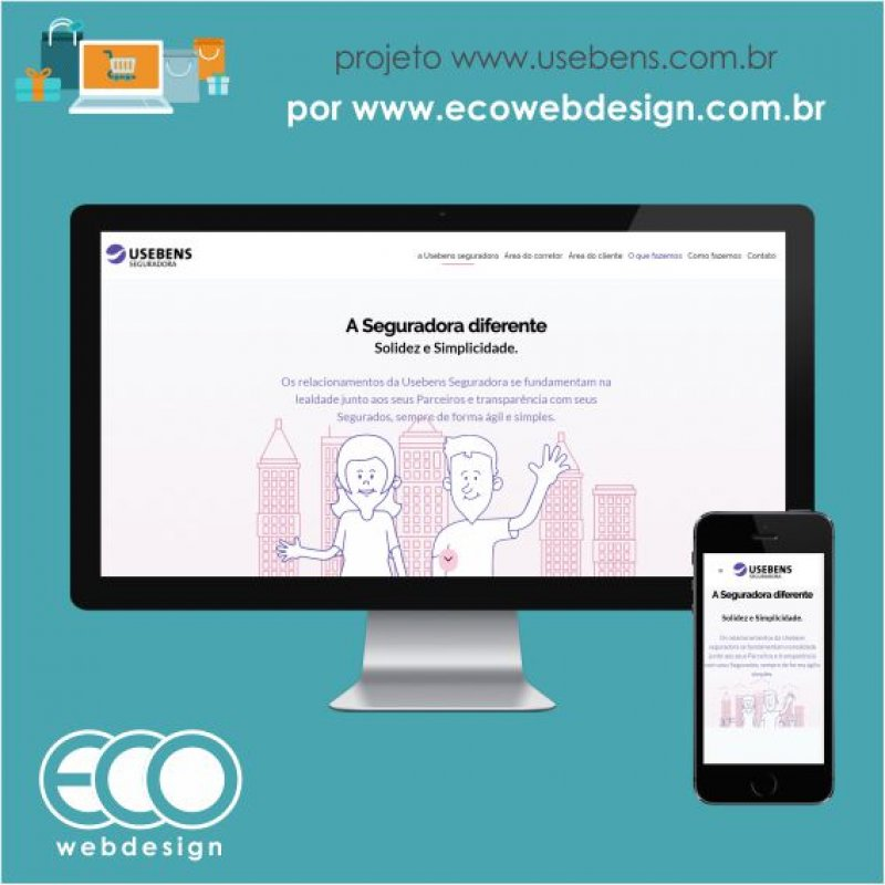 Imagem de Acesse <a href='http://www.usebens.com.br' target='_blank'>usebens.com.br</a>• Website integrado com sistema de gerenciamento do cliente • Usebens Seguradora