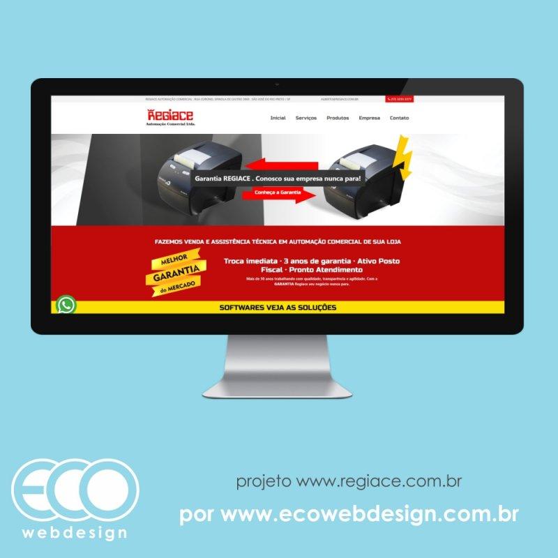 Imagem de Acesse <a href='https://www.regiace.com.br/' target='_blank'>https://www.regiace.com.br/</a> • Site institucional para empresa de automação comercial -  Regiace Automação Comercial Ltda.