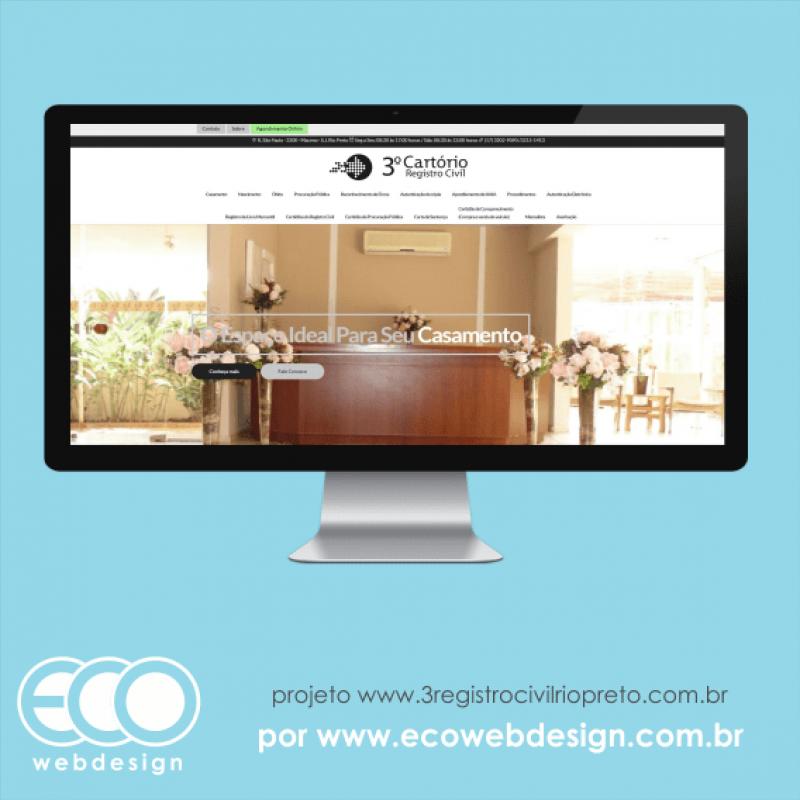 Imagem de Acesse <a href='http://www.3registrocivilriopreto.com.br/' target='_blank'> https://www.3registrocivilriopreto.com.br</a> • Site institucional para amplos serviços em relação ao registro civil - 3º Cartório Registro Civil.