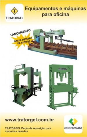 Equipamentos e máquinas para oficinas de manutenção de máquinas de pesadas é na TRATORGEL
