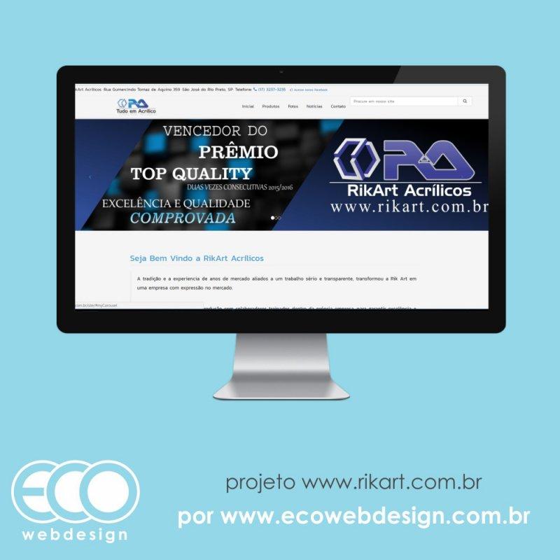 Imagem de Acesse<a href='http://www.rikart.com.br' target='_blank'> rikart.com.br</a> • Site para exposição dos seus produtos • RikArt Acrílicos - Tudo em Acrílico, Decoração, Cadeiras, Expositores, Púlpitos, Pet Shop, Troféus, Mesas, Luminárias, Display, Prateleiras, Urnas, Lembrancinhas, Shopping