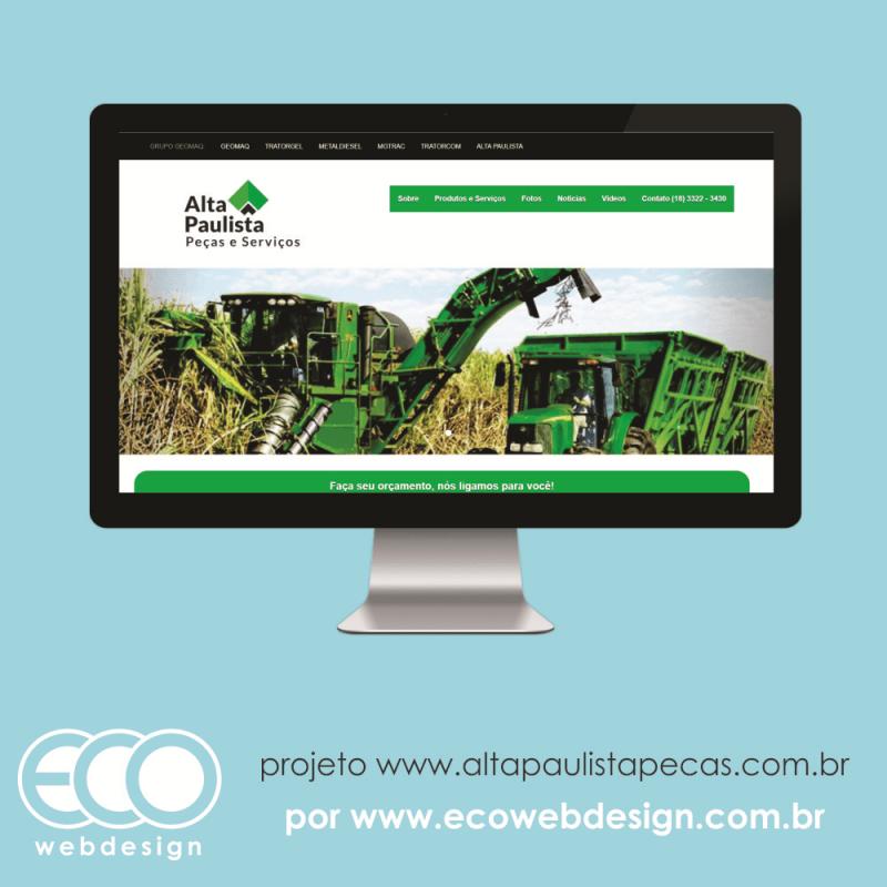 Imagem de Acesse <a href='http://www.altapaulistapecas.com.br' target='_blank'>altapaulistapecas.com.br</a> • Alta Paulista - Peças e Serviços • 09 Site Institucional Grupo Geomaq