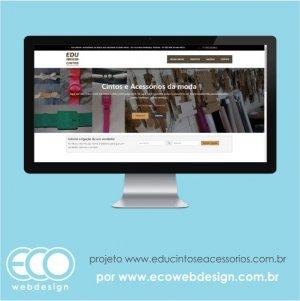 15bc8ddd6a3 Imagem de • Website institucional com catálogo de produtos • Edu Cintos e  Acessorios da moda