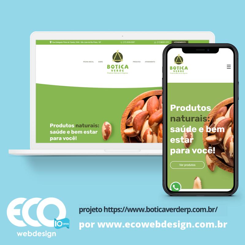 Imagem de Acesse <a href='https://www.boticaverderp.com.br/'  target='_blank'>   https://www.boticaverderp.com.br  </a> • Site institucional para loja de produtos naturais - Bótica Verde RP