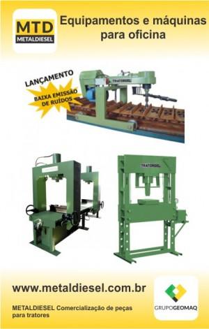 Equipamentos e máquinas para oficinas de manutenção de máquinas de pesadas é na METALDIESEL