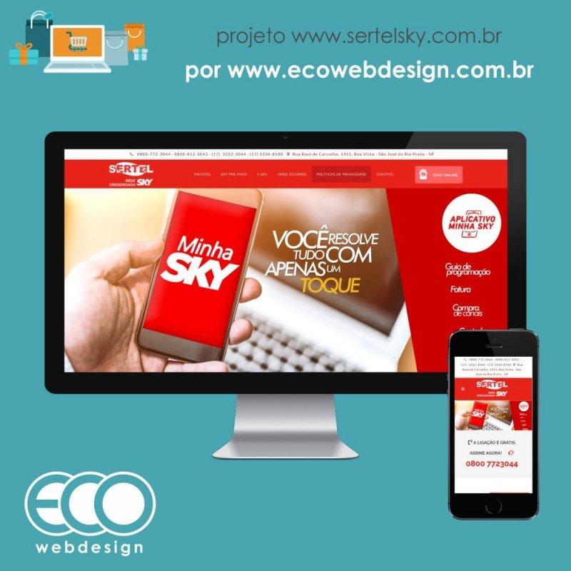 Imagem de Acesse <a href='http://www.sertelsky.com.br' target='_blank'>sertelsky.com.br</a> • Website para Divulgações dos pagotes, totalmente gerenciavel, com chat e Layout Diferenciado - Sertel Sky - Rede Credenciada Sky