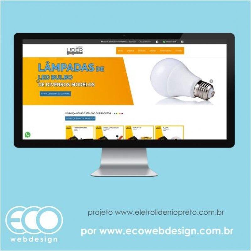 Imagem de Acesse <a href='https://www.eletroliderriopreto.com.br' target='_blank'> https://www.eletroliderriopreto.com.br</a> • Site institucional para empresa de venda de materiais elétricos - Eletro Líder