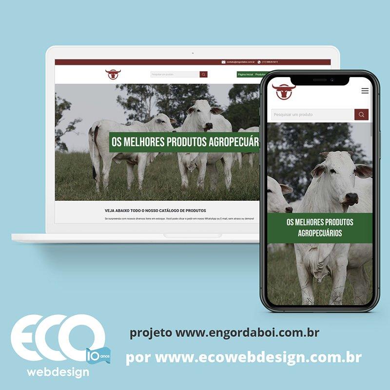 Imagem de Acesse <a href='https://www.engordaboi.com.br/'  target='_blank'>   https://www.engordaboi.com.br  </a> • Site institucional para empresa que fabrica e vende produtos para Bovinos. - Engorda Boi